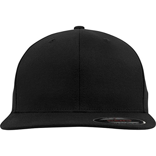 Flexfit Flat Visor Black L/XL, Yupoong Headwear Unisex-Adult