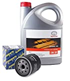 Pack Duo Aceite motor Genuine Toyota 5W-30 PFE sintético 08880-83389 C2 5 litros + filtro aceite Japanparts FO-279S