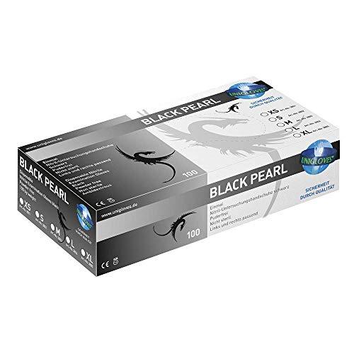 UNIGLOVES Nitril-Handschuhe schwarz puderfrei BLACK PEARL - VE 1000 Stück (XS)