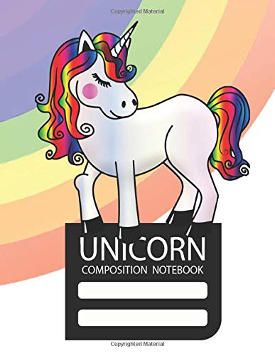 Unicorn Composition Notebook: Cute Pink College Ruled 8.5 x
