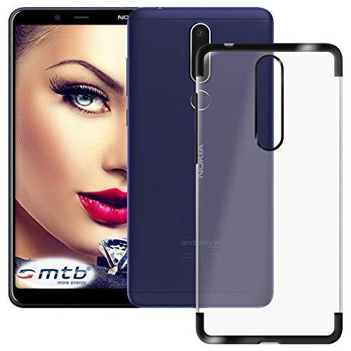 mtb more energy® Schutz-Hülle Elegance für Nokia 3.1 Plus, 3.1+ (6.0'') - schwarz - flexibel - TPU Frame Rahmen Hülle Cover Tasche