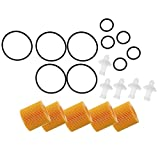 NOBRAND 5 Filtro de Aceite Piezas Set-04152 YZZA6 for Toyota Corolla Prius Scion Xd Im (Color : Yellow)