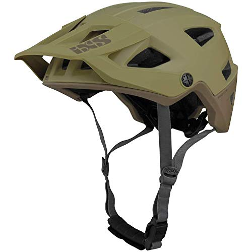 IXS Unisex Trigger AM All-Mountain Trail Protective Bike Helmet, Camel, Medium/Large