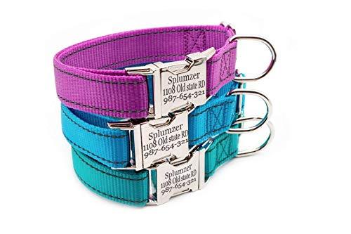 UDstrap Personalisierte Hundehalsband, reflektierende benutzerdefinierte Hundehalsband mit Namen Telefonnummer Einstellbarer Größe (XS S M L)