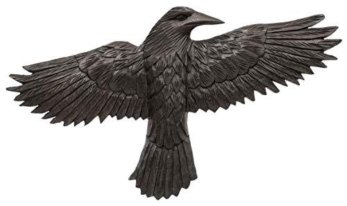 Windalf Hugin - Figura Decorativa para Pared (45 cm, Madera), diseño de Cuervo Negro