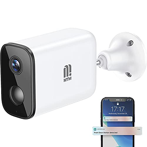 MTM Wireless Outdoor Security Camera Rechargeable...