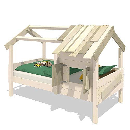 WICKEY Kinderbett 'CrAzY Sunrise' - Spielbett aus Massivholz - Einzelbett - 90x200 cm