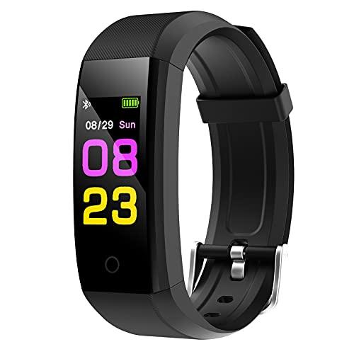 GeeRic Orologio Fitness Tracker,Smartwatch Tracker Donna Uomo con Saturimetro Pressione Sanguigna IP67 Cardiofrequenzimetro da Polso Contapassi Smartband Sportivo Activity Tracker per Android/iOS Nero