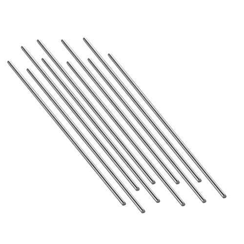 Eowpower 20Pcs Stainless Steel 150mm x 2mm Round Shaft Rod for RC Airplane