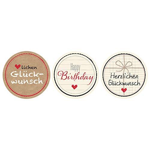 AVERY Zweckform 56814 Geschenkaufkleber Sticker auf Rolle 50 Stück (Etiketten, Papiersticker 38 mm im Spender, Glückwunsch, Happy Birthday, Herzlichen Glückwunsch, Karten, Einladung, Dekorieren)