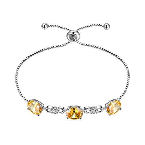 Aurora Tears Gioielli Birthstone collana orecchini bracciali in argento Sterling 925 ciondolo pietra di nascita regalo per ragazze e donne e Braccialetti portafortuna
