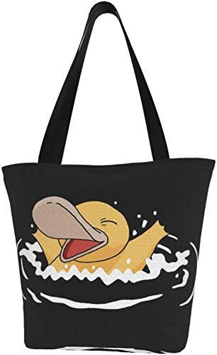 Anime Princess Mononoke Canvas Tote Bags Handtaschen Wiederverwendbare Einkaufstaschen Schultertasche für Geschenk Einkaufen Schule, - Süßes Schwimmspielzeug für die Schwimmente - Größe: Einheitsgröße