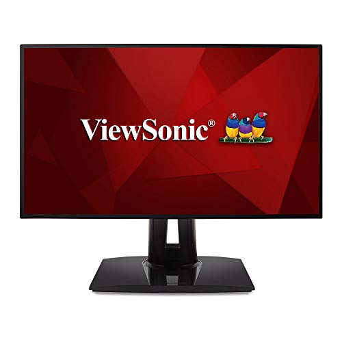 Viewsonic VP2458 60,5 cm (24 Zoll) Fotografen Monitor (Full-HD, IPS-Panel mit Delta E<2, 100 Prozent sRGB, USB 3.1 Hub, Höhenverstellbar) Schwarz