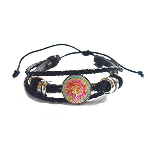 Joyería Mandala om árbol de la vida Cabujón vidrio para mujeres pulsera y brazalete regalo de Navidad, PU198