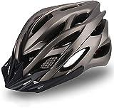 KINGLEAD Fahrradhelm Herren Damen mit LED Licht und Abnehmbarem Visier, Unisex MTB Mountainbike Helm Radhelm für Draussen Einstellbar CE-Zertifikat Fahrrad Helm Erwachsenen 57-62CM