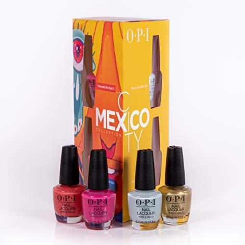 OPI Nail Lacquer Mexico City Collection 4er Mini Set – 4 Nagellacke mit bis zu 7 Tagen Halt – Ergiebig, langlebig & splitterfest – Nr.: DCM01 – 4 x 3,75 ml
