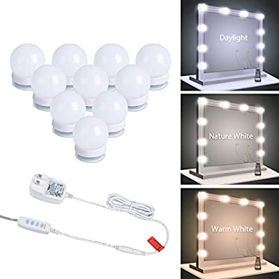 Vanity Mirror Lights, Dimmable Led Vanity Makeup Light for Mirror Stick on lights, 3 Color Modes, Plug in Makeup Mirror for Dressing Room (Mirror Not Included)