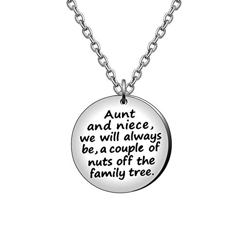 Aunt Niece Pendant Necklace Family Gifts Wedding Birthday Necklaces - Aunt And...