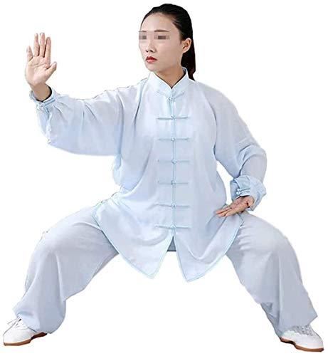 HLZY Uniformes Tradicionales Chinos de Tai Chi Kung Fu Taiji Ropa Tang Traje Hombres/Mujeres ala Chun Tai Chi Tops y Pantalones Transpirables (Color : C, Size : Small)