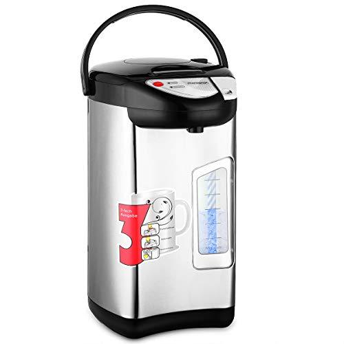 monzana Heißwasserspender 3 Liter - 750W Edelstahl Gehäuse 360° Drehbar Warmhaltefunktion Wasserkocher Wasseraufbereiter Thermopot