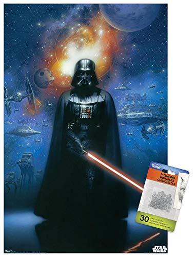 Star Wars: Saga - Vader in Space Wall Poster with Push Pins