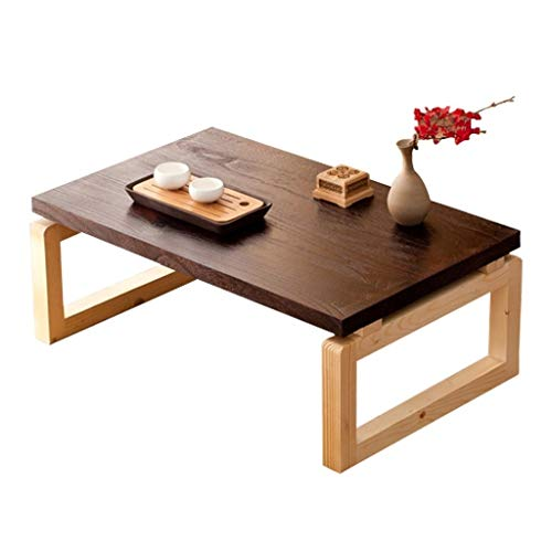 Coffee Tables Simple Mini Folding Small Japanese Writing Desk Tatami Simple Mini Computer Table Easy to Store (Color : Brown, Size : 604030cm)