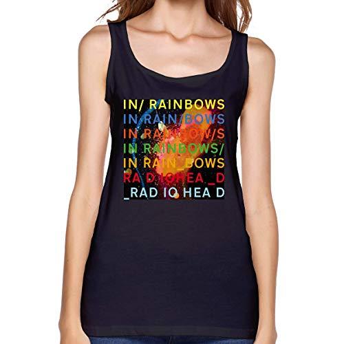 Radiohead in Rainbows Tanques para Mujer y Dama para Casual o Deportivo Camiseta sin Mangas con Cuello Redondo sin Mangas Estampada Premium Grande