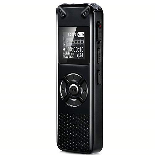 Fay 8GB / 16GB / 32GB Voice Activated Recorder, Audio Recorder mit MP3-Player, MicroSD-Kartenslot erweitert Werden kann bis zu 32 GB mit integrierten USB-Voice Activated Recorder,32GB