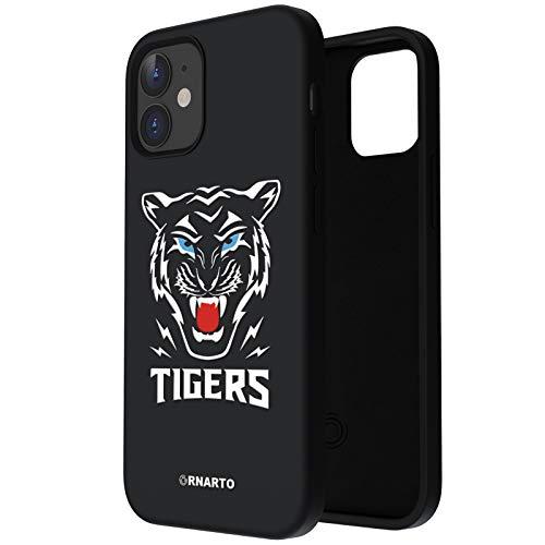 ORNARTO Funda para iPhone 12   12 Pro Diseño de Patrón Animal, Protección de Cuerpo Completo,Carcasa de Silicona Líquida Suave Antichoque Case para iPhone 12   12 Pro (2020) 6,1 Tigre/Negro