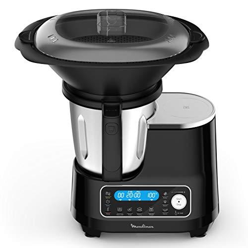 Moulinex ClickChef HF456810 - Robot de cocina multifunción con 5 programas automáticos, robot de cocina compacto 25 funciones, báscula de cocina integrada, cocción al vapor, mezclador 3.6 l, 1400 W