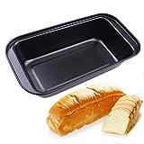 BSTCAR Molde antiadherente para pan de acero al carbono para hornear pan de pan de hojalata antiadherente para la cocina del hogar