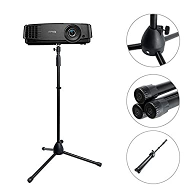 Projector Stand,Portable Adjustable Tripod Mount Floor Stand Holder with 360°Swivel Ball Head for Mini Projector,Camera, Webcam, Gopro (Fit almost all machine with 1/4 or 3/8 inch screw hole)