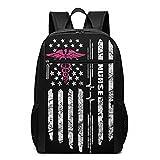 cozipink Us Flag Gifts For Nurses Nursing Travel Laptop Backpack For Men Women College School Bookbag Business Work Bag