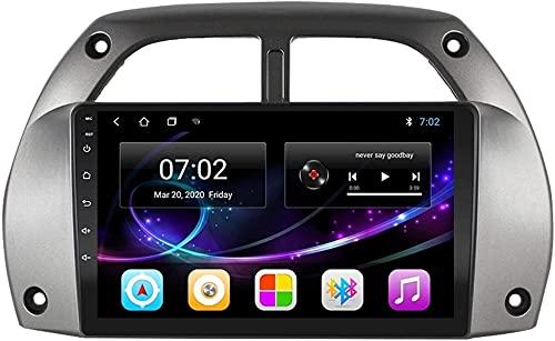LYHY Navegador de Coche Android 10.0 Radio para Toyota RAV4 2001-2006 Navegación GPS Unidad Principal de 9 Pulgadas Pantalla táctil Reproductor Multimedia HD Video MP5 con WiFi DSP SWC Mirrorink