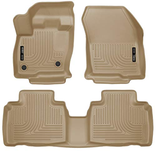 Husky Liners Fits 2015-19 Ford Edge Weatherbeater Front & 2nd Seat Floor...