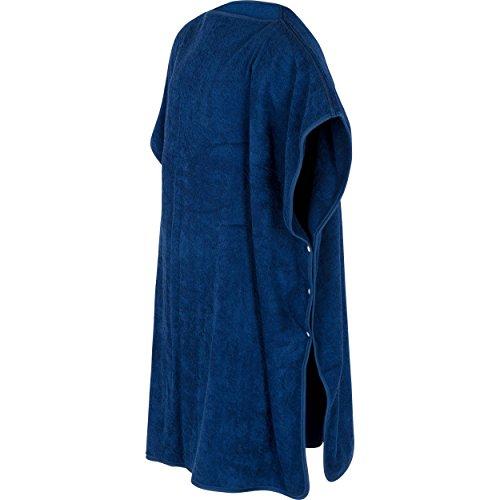 Theramaxx XL Badetuch-Poncho für Damen und Herren, 100% Frottee-Baumwolle, blau