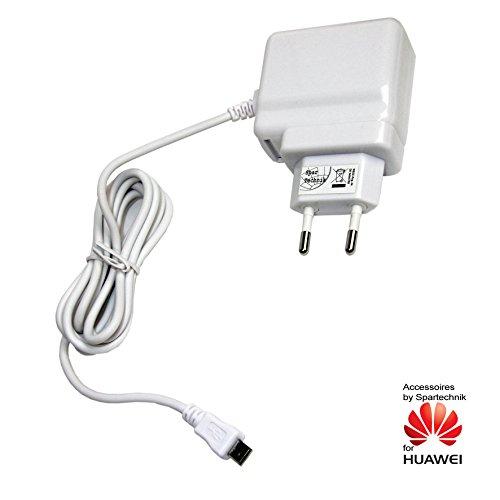 Spartechnik 230V Schnellladegerät mit 2 Ampere Huawei Tablet MediaPad X1 7.0 Media Pad Ladegerät, Reiselader 110-230 Volt 2A - weiß