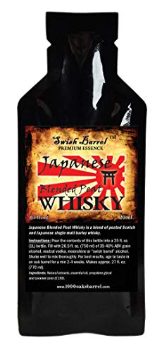 Japanese Blended Peat Whisky Essence | Bootleg Kit Refills | Thousand Oaks Barrel Co. | Gourmet Flavor for Barrel Aged Cocktails Mixers and Cooking | 20ml .65oz Packet (1 Packet)
