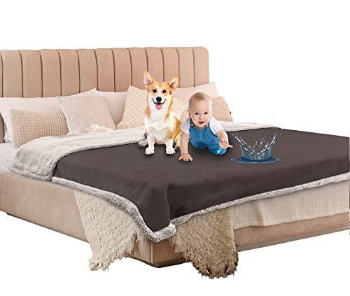 Catalonia 防水カバー ベッド シングル 防水毛布 ペット 防水シーツ 猫 犬 粗相対策 おしっこマット 赤ちゃん ベビー 防水シート ソファー ベッド 介護 毛玉なし 丸洗え 200x150cm