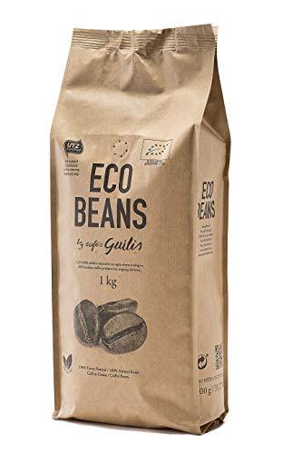 CAFES GUILIS DESDE 1928 AMANTES DEL CAFE - Caffè biologico in grani - Alta qualità chicchi di caffè organici 100% Arabica - Confezione da 1 Chilogrammo