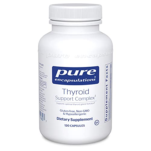 Pure Encapsulations Thyroid Support Complex | Hypoallergenic Supplement with Herbs and Nutrients for Optimal Thyroid Gland Function* | 120 Capsules