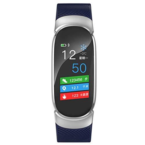 Wsaman Reloj Deportivo a Prueba de Agua, Pulsera Actividad Inteligente con Podómetro para Niños y Niñas, Monitor Rítmo Cardíaco y Sueño,Azul