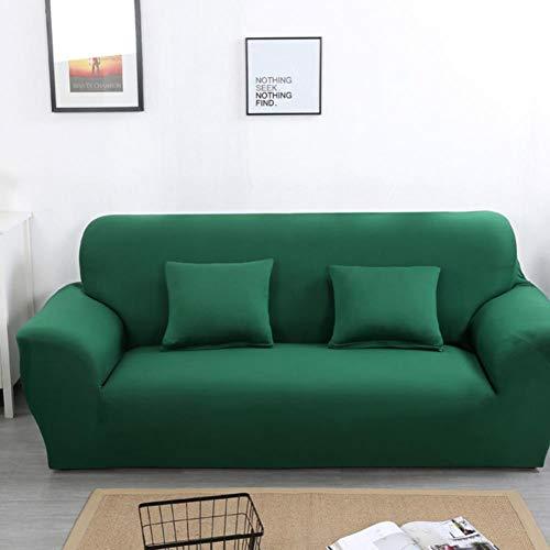 FGVBWE4R Copridivano Moderno Spandex per Soggiorno Coprivasi Elastici Bianco Copridivano Divano coprisedile Divano componibile 1/2/3/4 Sedile, Verde, 4 posti 235-300cm