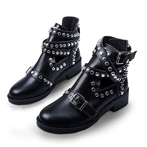 SamojoyBlvd. Women's Genuine Leather Chelsea Boots Slip On Low Heel Waterproof Lightweight Elastic Rain Ankle Booties