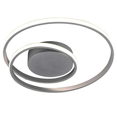 LED Decken Leuchte dimmbar Ring Design Wohn Zimmer Flur Lampe Titan Reality Leuchten R62911187