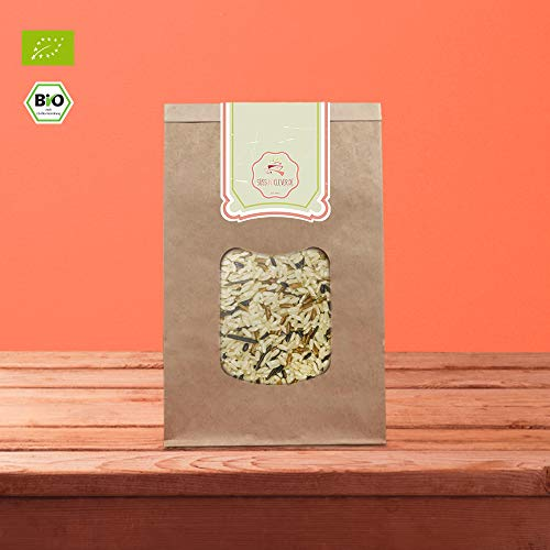 süssundclever.de® Bio Reismischung | Lang-, Rot, Schwarz- und Wildreis | 2 kg | unbehandelt | plastikfrei und ökologisch-nachhaltig abgepackt