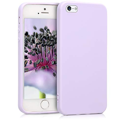 kwmobile Cover Compatibile con Apple iPhone SE (1.Gen 2016) / 5 / 5S - Custodia in Silicone TPU - Backcover Protezione Posteriore- Lavanda