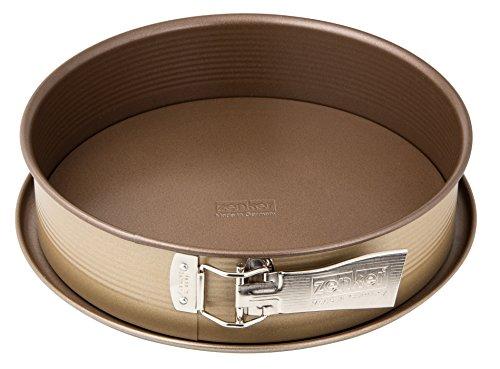Zenker 7350Mojave Gold Molde Desmontable con Fondo Plano Acero Inoxidable Dorado Caoba, Acero...