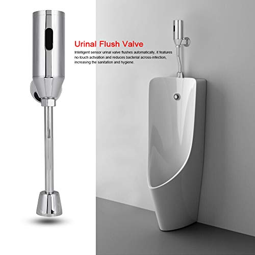 Automatic Sensor Urinal Valve Set Brass Wall Mounted Touchless Urinal Flush Valve Bathroom Infrared Intelligent Faucet…