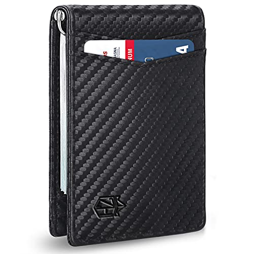 Zitahli Slim Wallets for Men RFID Money Clip Wallet Men's Front Pocket Minimalist Wallet
